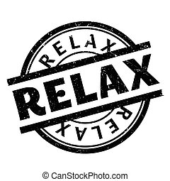 Relax rubber stamp. Grunge design with dust scratches....