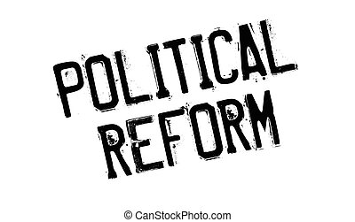 Political Reform rubber stamp. Grunge design with dust...