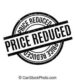 Price Reduced rubber stamp. Grunge design with dust...