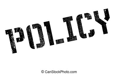 Policy rubber stamp. Grunge design with dust scratches....