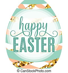 Vector illustration of cute luxury happy easter greeting...