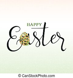 Vector illustration of luxury happy easter greeting card...