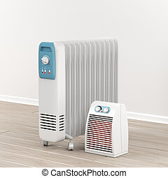 Oil-filled radiator and fan heater - Electric oil-filled and...