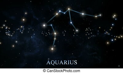 Constellations of the Zodiac - Seamlessly loopable rotation...