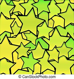 abstract vector stained-glass mosaic background - green and...