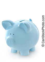 藍色, 小豬, 銀行