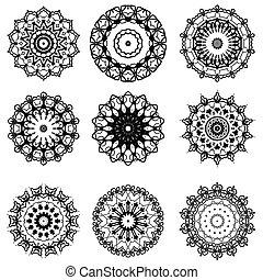 Oriental Geometric Ornament - Ornamental Line Pattern....