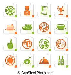 Stylized Restaurant, food and drink icons