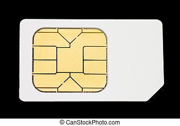 Sim card isolated on white background - Sim card isolated on...