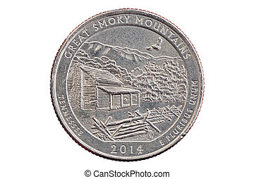 Great Smoky Mountains Quarter Coin - Great Smoky Mountains...