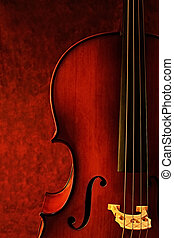 Cello, against canvas background. Luscious warm tones...
