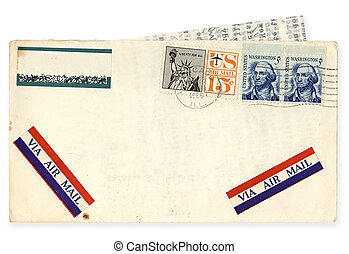 Vintage USA Airmail Envelope