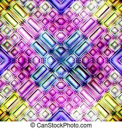 colorful abstract seamless texture 3D Rendering - colorful...