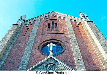 church of St. John Chrysostom in Lviv - high walls of church...