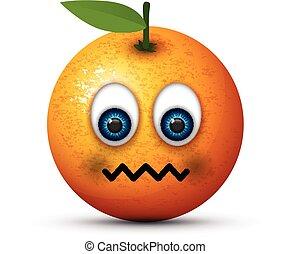 orange sick emoji