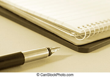 Fountain Pen with Notepads