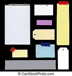 Blank Notes and Tags - Collection of blank notes and tags,...