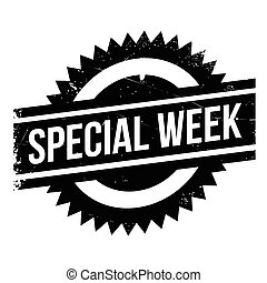 Special Week rubber stamp. Grunge design with dust...