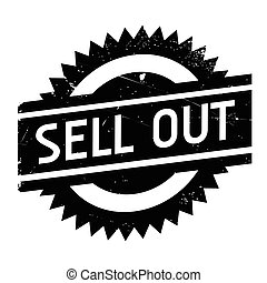 Sell Out rubber stamp. Grunge design with dust scratches....