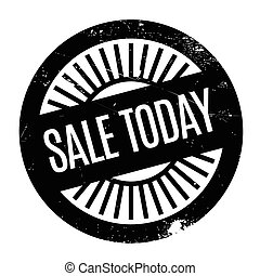 Sale Today rubber stamp. Grunge design with dust scratches....