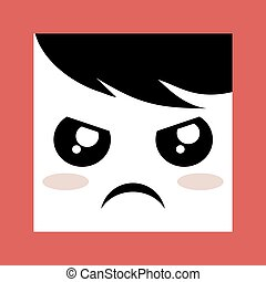 angry expression design icon