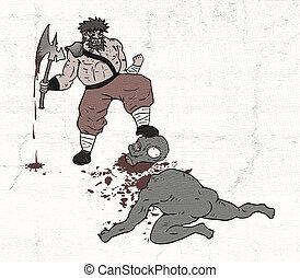barbarian gore scene