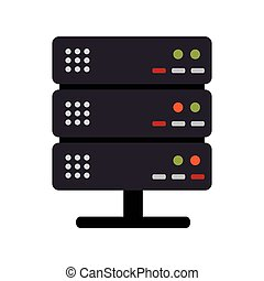 color silhouette with server rack