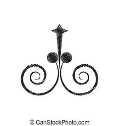 drawing decorate ornate scroll style