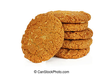Anzac Biscuits - Australian icon - Anzac biscuits, isolated...