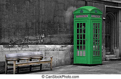 London Phone booth, Travel - Green London Phone booth,...