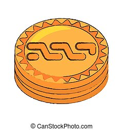 nxt coin cryptocurrency stack icon vector illustration eps...