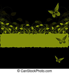 Background with green  plant