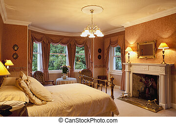 Victorian bedroom - Luxury victorian bedroom with a...