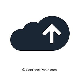 Cloud Computing with Upload Icon