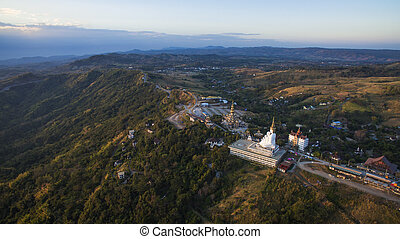 aerial view of wat phasornkaew khao koh petchabun northern...