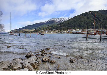 lake wakatipu queenstown south island new zealand most...