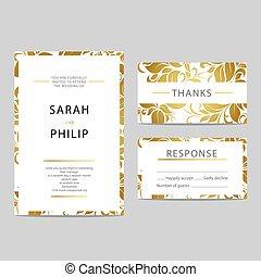 Floral wedding invitation card - Bright floral wedding...