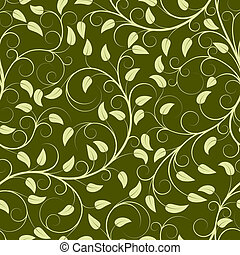 Green plants - Seamless pattern from green plants(can be...