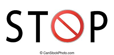 Stop sign vector illustration on white background