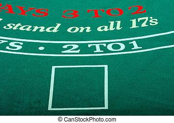 Black Jack table - black jack felt like in a casino, empty,...
