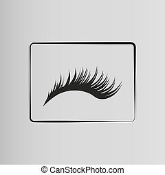 Eyelashes - eyelashes icon on a gray background