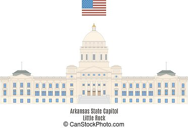 Arkansas State Capitol, Little Rock. House of government of...