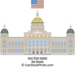 Iowa State Capitol, Des Moines - Iowa State Capitol in...