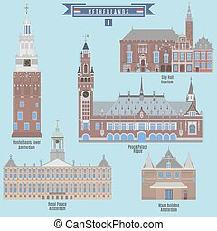 Famous Places in Netherlands: City Hall - Haarlem,...