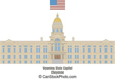 Wyoming State Capitol, Cheyenne - Wyoming State Capitol in...