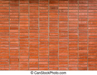 texture of decorative old red brick wall surface -...