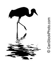 silhouette of the crane