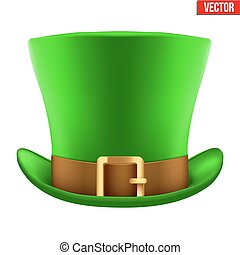St Patrick hat isolated on white background