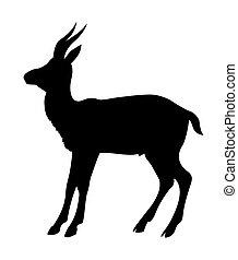 vector illustration mountain sawhorse on white background