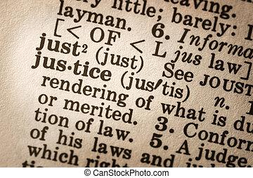 definição, justiça
